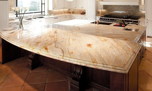Brazilian Dream Granite with a built in blender in the island
