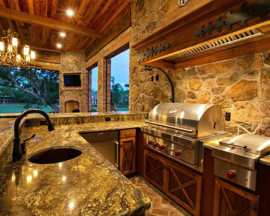 Mascarello Granite on a spectacular outdoor kitchen