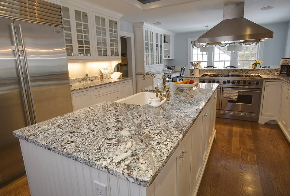 These are White Ice Granite Countertops